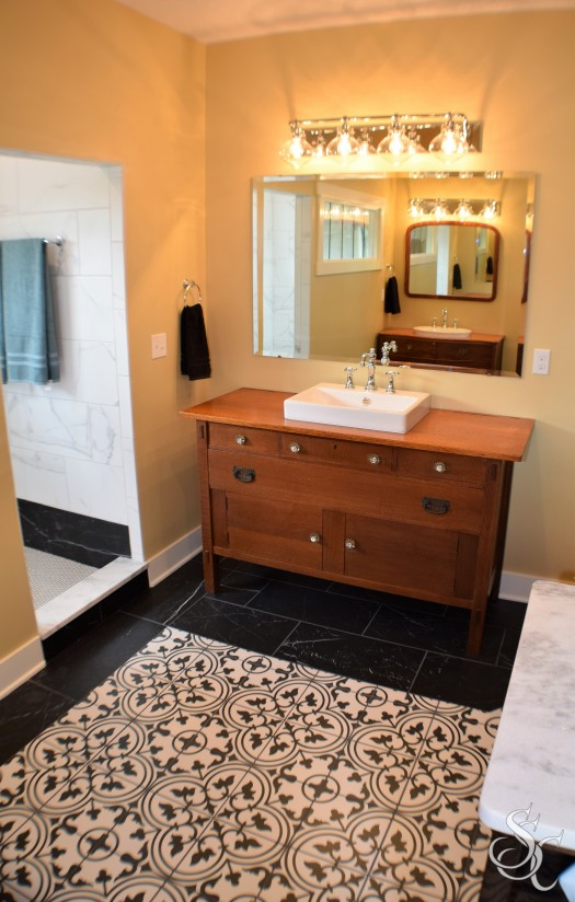 Antique Repurposed Master Bath Custom Builders