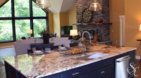 Custom Made Kitchen Island Granite